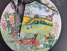 Wedgwood Country Panorama MEADOWS AND  WHEATFIELDS Birds 1987  Ltd Ed plate