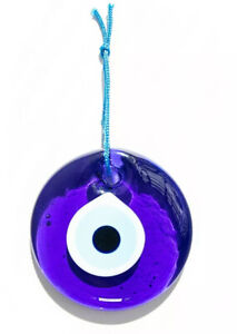 "Evil Eye Charm 3 in.  ""7.5 cm"" Home Protector Glass Beads Made in Turkey"