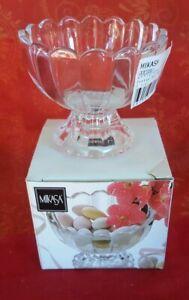 "Mikasa Odyssey Glass  Footed Bon Bon Candy Dish   Bowl  New 3.5"" boxed"