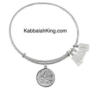 Wind & Fire Sterling Silver Live In The Moment Charm Expandable Bangle Bracelet