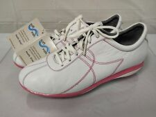 SoftWalk Health Glide White Ladie's Walking Shoes pink NWTO Womens size 10