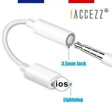 Adaptateur Jack 3,5mm Audio Écouteurs Casque iPhone 12 11 Pro Max Xs Xr X 8 7