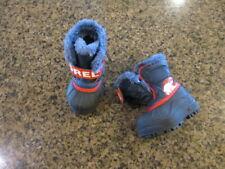 Sorel Snow Winter Boots Boys girls Toddler 5 EUR 22 Navy Faux Fur NV1805-591