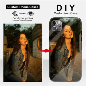 Custom Personalized Phone Case Tempered Glass For iPhone 12 Pro Max 11 XS SE 8 7