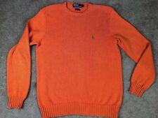 Polo Ralph Lauren Solid Orange Cotton Cable Knit Sweater Size Large