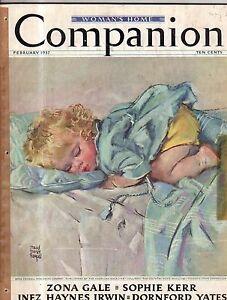 1937 Womans Home Companion February-Pearl S. Buck; Zona Gale; Maud Tausey Fangel