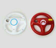 Official Set of 2 Nintendo Wii Steering Wheel Mario Kart Red & White