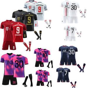 UK 21/22 Adults Kids Football Full Kits Boys Soccer Training Suits Custom Jersey