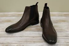 Hugo Boss Square Chelsea Men's Boots, Dark Brown, US 9 - MSRP $ 275.00