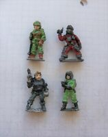4 x Traveller Sci-fi figures. 25/ 28mm. Metal. Citadel. Games Workshop. 1980s