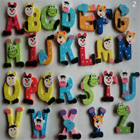 26 Pcs Wooden Alphabet Fridge Magnets Baby Early Childhood Toys For Children C-L