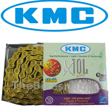 KMC X10L GOLD Ti-N 10 Speed Bike Chain Fit Shimano Campagnolo & SRAM