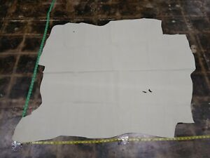 """Cowhide Top Quality leather skin hide Cream Saffiano 40"""" x 47"""" Inches 2 oz 1mm"""