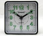 Casio TQ140-1B Black/White Travel Portable Neobrite Analog Beep Alarm Clock New