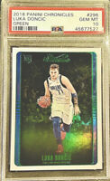 PSA 10 RC Luka Doncic 2018-19 Chronicles Studio GREEN HOLO #296 Rookie Low POP