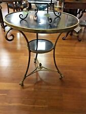 French Style Brass and Marble Table