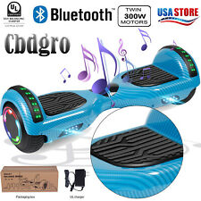 "6.5"" Bluetooth Hoverboard Led Electric Self Balancing Speaker Scooter WithoutBag"
