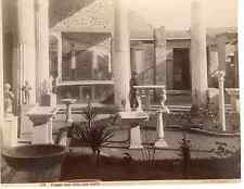 Italie, Pompei scavi della casa nuova  Vintage albumen print  Tirage albuminé