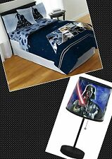 "DISNEY STAR WARS DARTH VADER TABLE LAMP AND ""GALAXY FAR, FAR"" WAY TWIN SHEET SET"