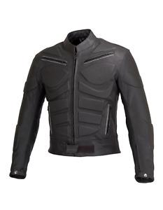 Mens Genuine Black Motorcycle Leather Protection Motorbike Jacket