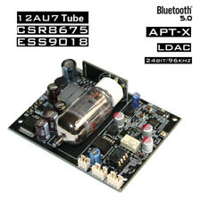 Bluetooth 12AU7 Tube Audio Receiver Board CSR8675 ES9018 Decoding DAC Kit 24 Bit