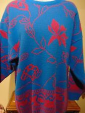 Tundra Women's  Pink Floral Print  Sweater XL
