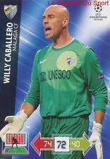U53 WILLY CABALLERO MALAGA CF ESPANA CARD CHAMPIONS LEAGUE ADRENALYN 2013 PANINI