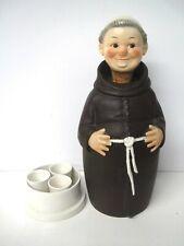 Goebel Art Pottery Friar Tuck Monk Decanter, Secret Shots Base, c.1950 Germany