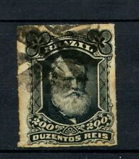 Brazil 1878-9 SG#62 200R Emperor Pedro II Rouletted Used #A22861