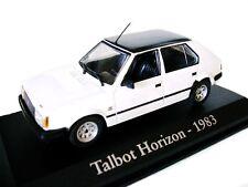 1/43 - IXO - EN BOITE VITRINE - SIMCA TALBOT HORIZON BLANCHE TOIT NOIR 1983
