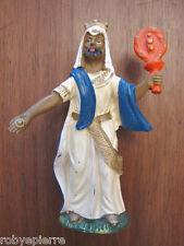 Statuina presepe vintage crib statue italy forse Isas '60 re magio magi oro gold