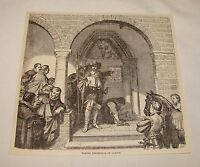 1884 magazine engraving ~ TAKING POSSESSION OF CLEVES, Germany