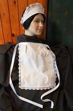 Victoriano Mucama Francesa Disfraz camarera delantal Sombrero Diadema Post Gratis