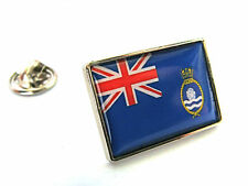 UK Royal Naval Auxiliary Ensign Flag Lapel Pin Badge