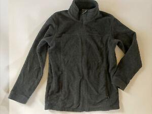 Columbia Youth Boy Girl Unisex Fleece Jacket Size L 14-16 Kids Zip Up Dark Gray