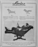 PUBLICITÉ PRESSE 1926 AVEC LE FAUTEUIL SURREPOS LE CORPS RETROUVE LEURS FORMES