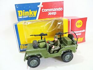 DINKY 612 'COMMANDO JEEP' ARMY/MILITARY. BOXED. EXCELLENT.