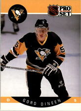 1990-91 PRO SET HOCKEY GORD DINEEN CARD #233 PITTSBURGH PENGUINS NMT/MT-MINT