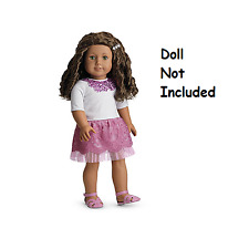"""American Girl MYAG Sparkle Sequin Outfit for 18"""" Dolls + Charm    NEW in AG Box"""