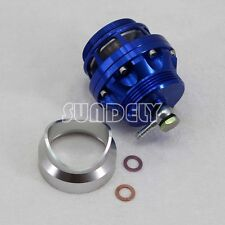 Blue 50mm Diesel Blow Off Valve Turbo BOV Dump Valve Regulating+Flange Adapter
