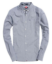 New Mens L/S London Button Down Shirt Micro Gingham