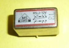 1 x MS ( SDS ) Relais, Bipolar RSL-12V,0,3A, 125 VAC/1A,30 VDC, Metallgehäuse