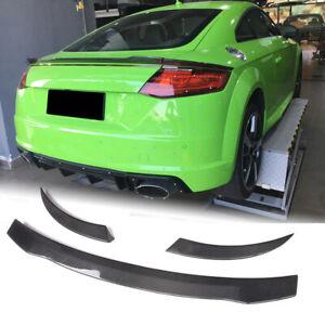 For Audi TT MK3 Type 8S TTS TTRS TT SLINE Carbon Fiber Rear Trunk Spoiler Wing