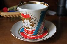 Tazza CCCP 1917-1987 Commemorativa, bordo in oro, vintage collectable mug