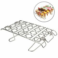 Cupcake Cone Baking Rack, Ice Cream Cone Stand Holder, Stainless Steel ,20 Capac