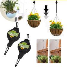 Retractable Hanging Basket Pull Down Hanger Garden Plant Hook Convenient