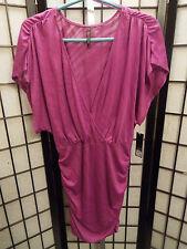 Women's Sofia Purple Short Sleeve Cover Up Shirt Blouse M Medium NWT's