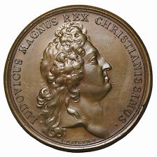 France Dated 1686 Louis XIV Vota Galliae AE Medal By Mavger