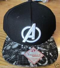 Avengers Age of Ultron Captain America Hulk Thor Adjustable Hat Black A ON BRIM