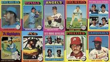 1975 Topps Baseball U Pick $1.50 Ea.Complete Your Set #341-628 FREE SHIPPING!!!